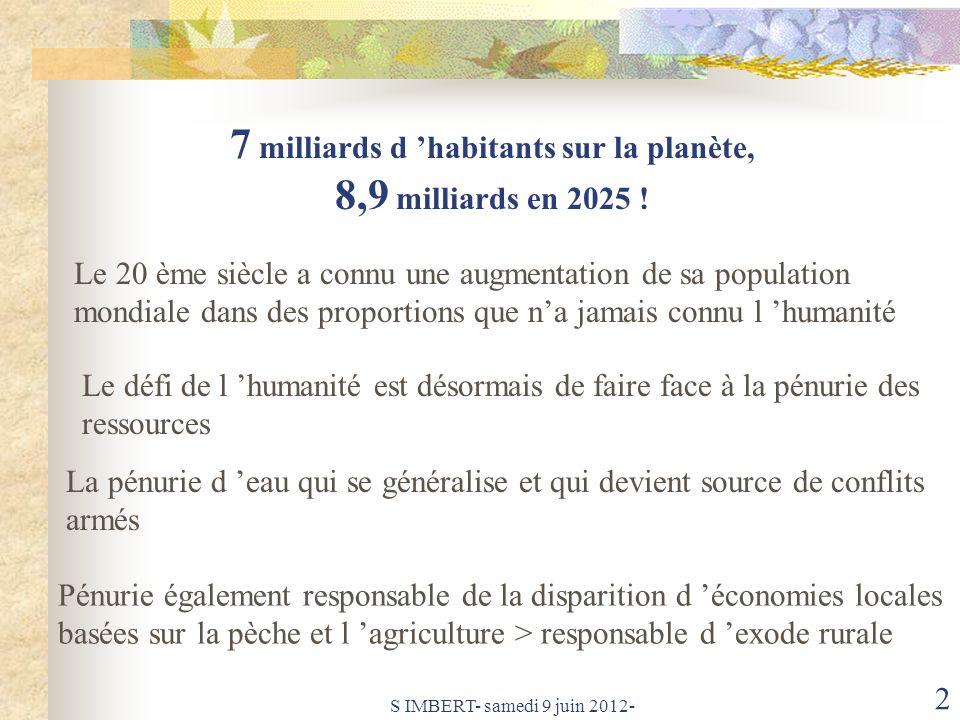 7 milliards d 'habitants sur la planète,