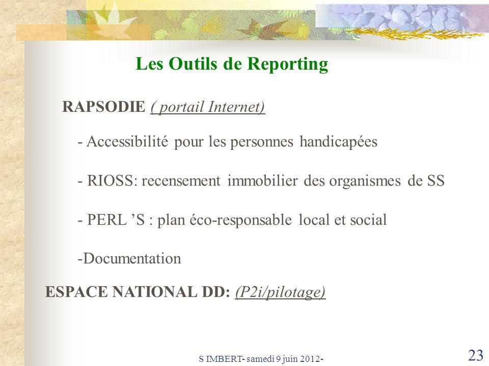 Les Outils de Reporting