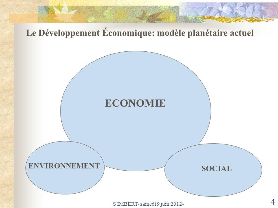 ECONOMIE Le Développement Économique: modèle planétaire actuel