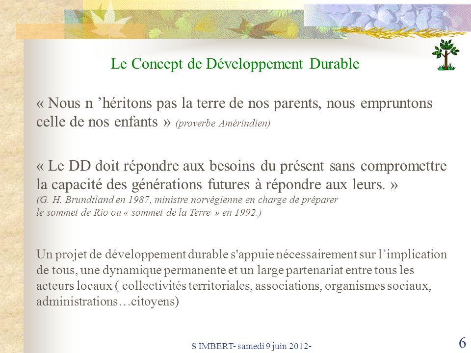 Le Concept de Développement Durable