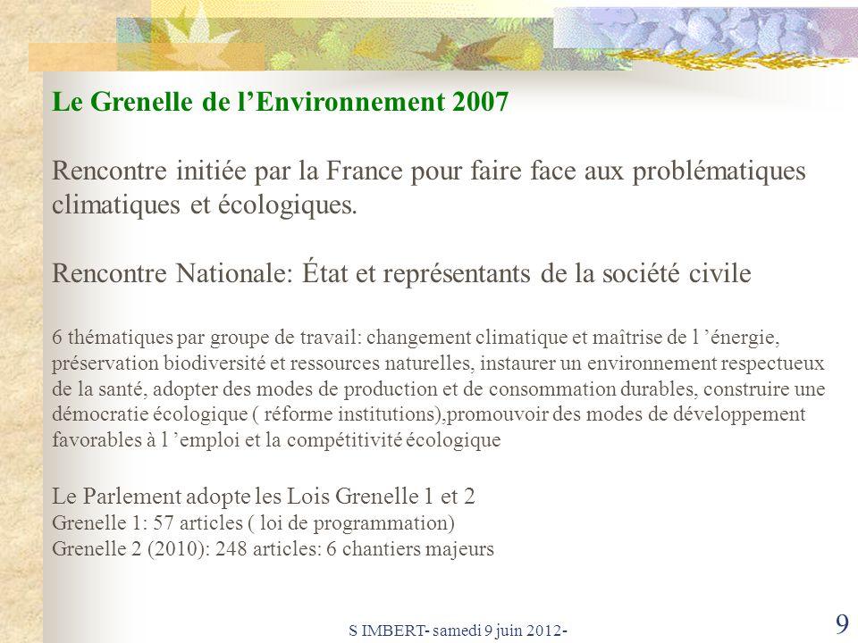 Le Grenelle de l'Environnement 2007