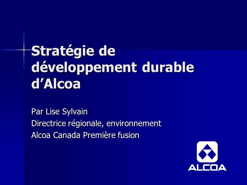 Stratégie de développement durable d'Alcoa