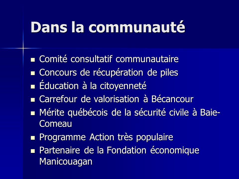 Dans la communauté Comité consultatif communautaire