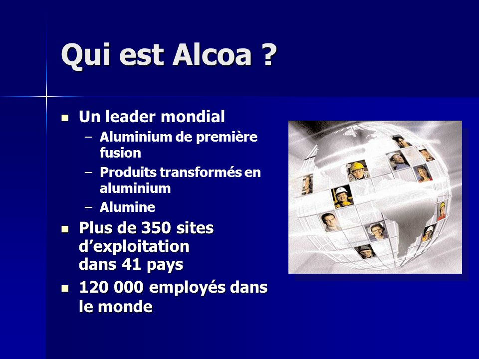 Qui est Alcoa Un leader mondial