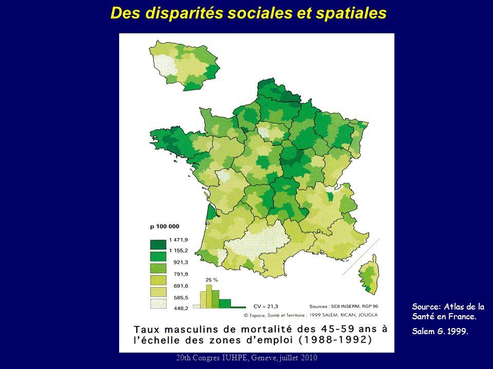Des disparités sociales et spatiales