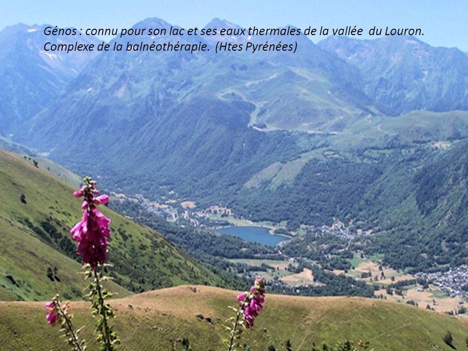 Génos : connu pour son lac et ses eaux thermales de la vallée du Louron.