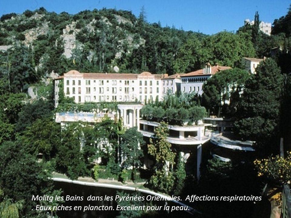 Molitg les Bains dans les Pyrénées Orientales. Affections respiratoires .