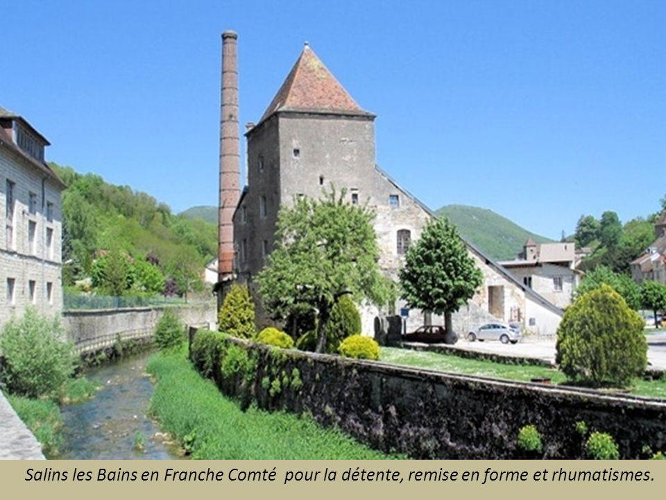 Salins les Bains en Franche Comté pour la détente, remise en forme et rhumatismes.