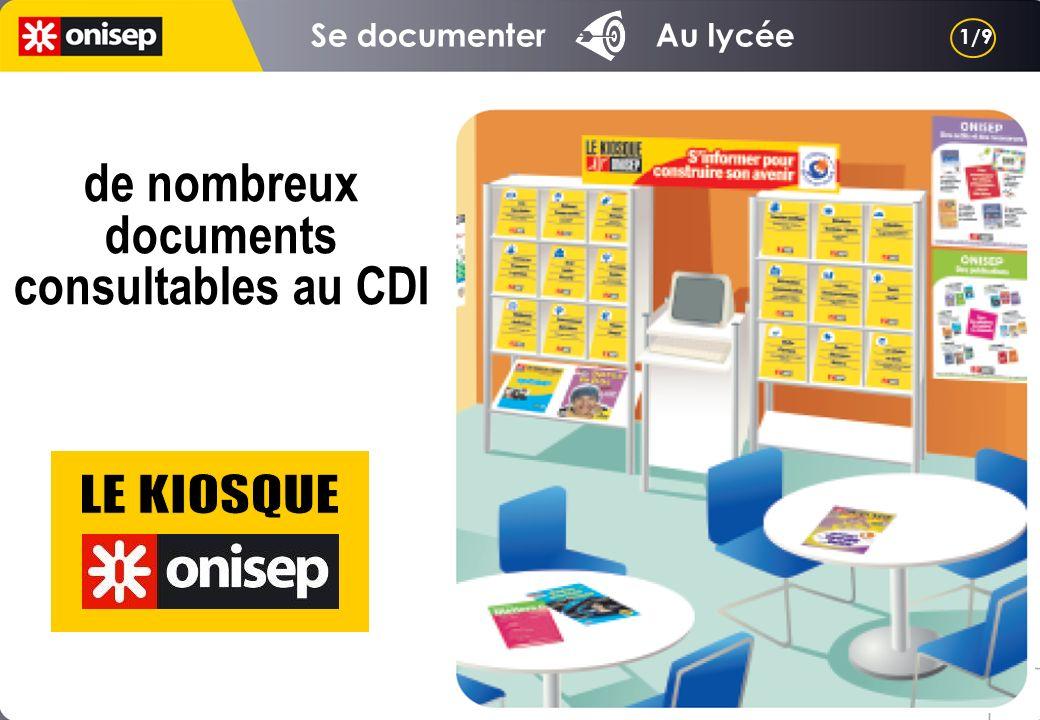 de nombreux documents consultables au CDI