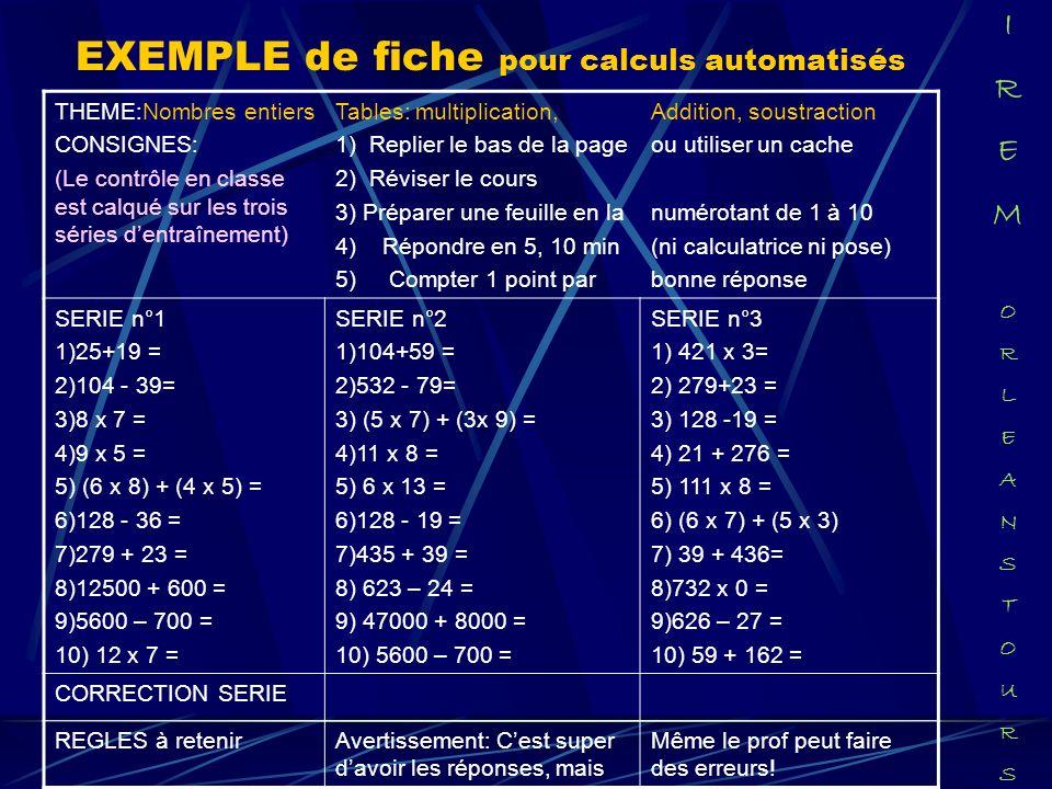 EXEMPLE de fiche pour calculs automatisés