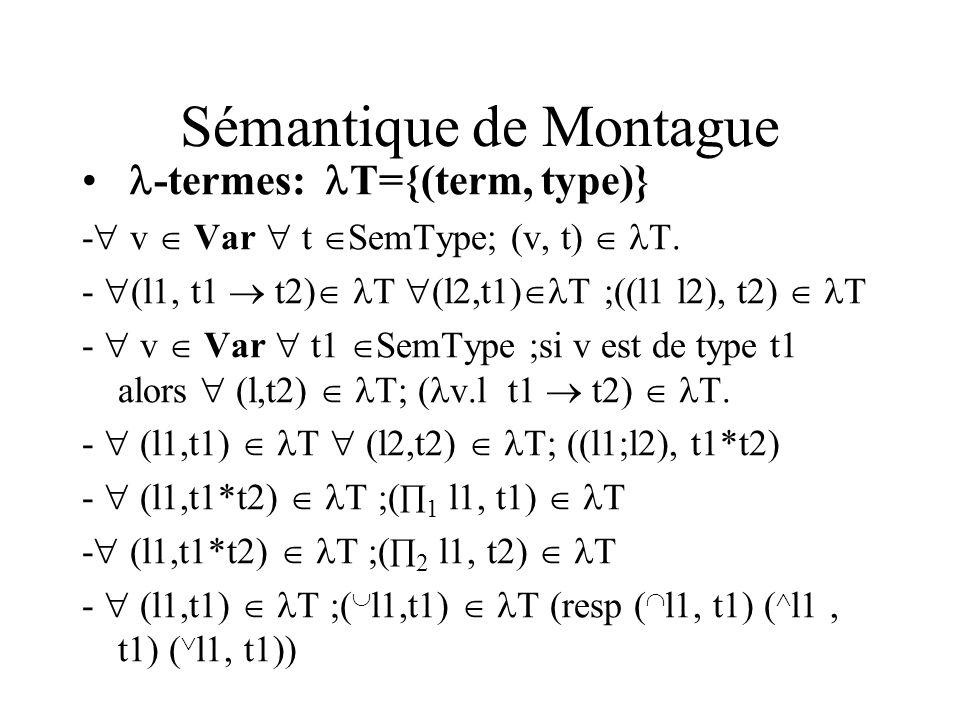 Sémantique de Montague