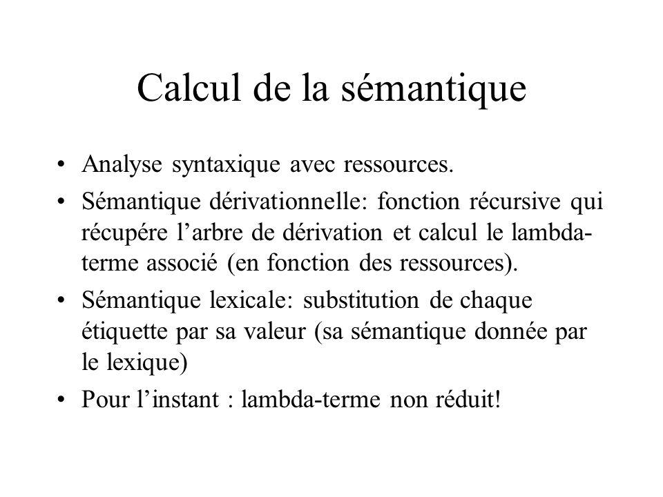 Calcul de la sémantique