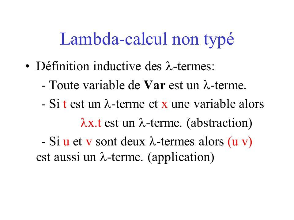 Lambda-calcul non typé