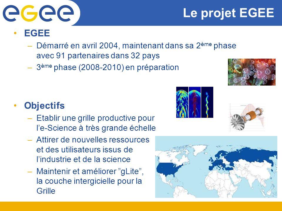 Le projet EGEE EGEE Objectifs