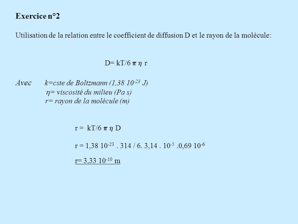 Avec k=cste de Boltzmann (1,38 10-23 J)