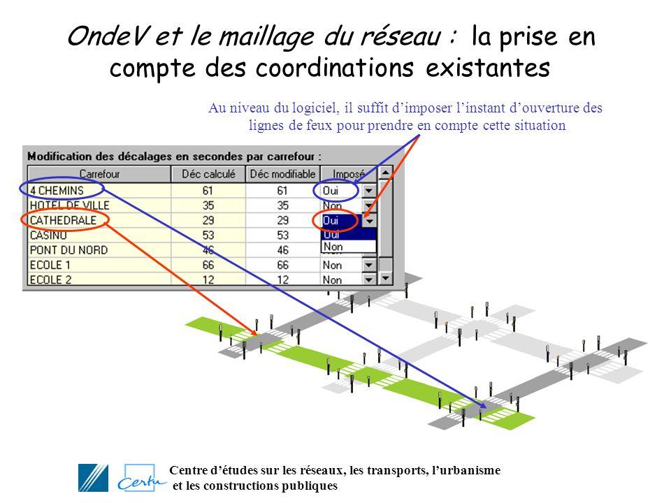 OndeV et le maillage du réseau : la prise en compte des coordinations existantes