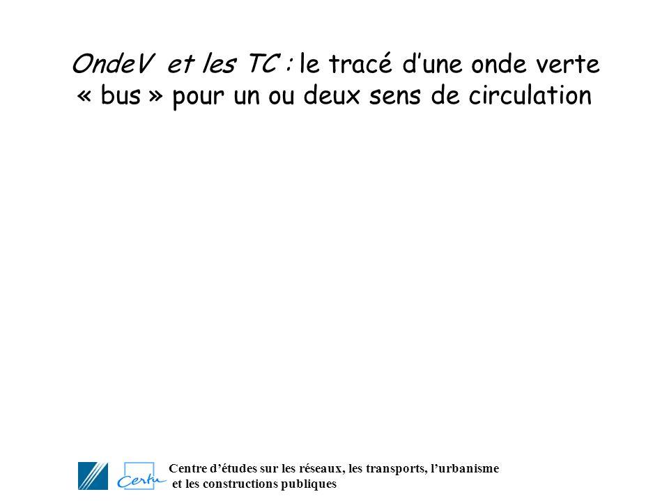 OndeV et les TC : le tracé d'une onde verte « bus » pour un ou deux sens de circulation