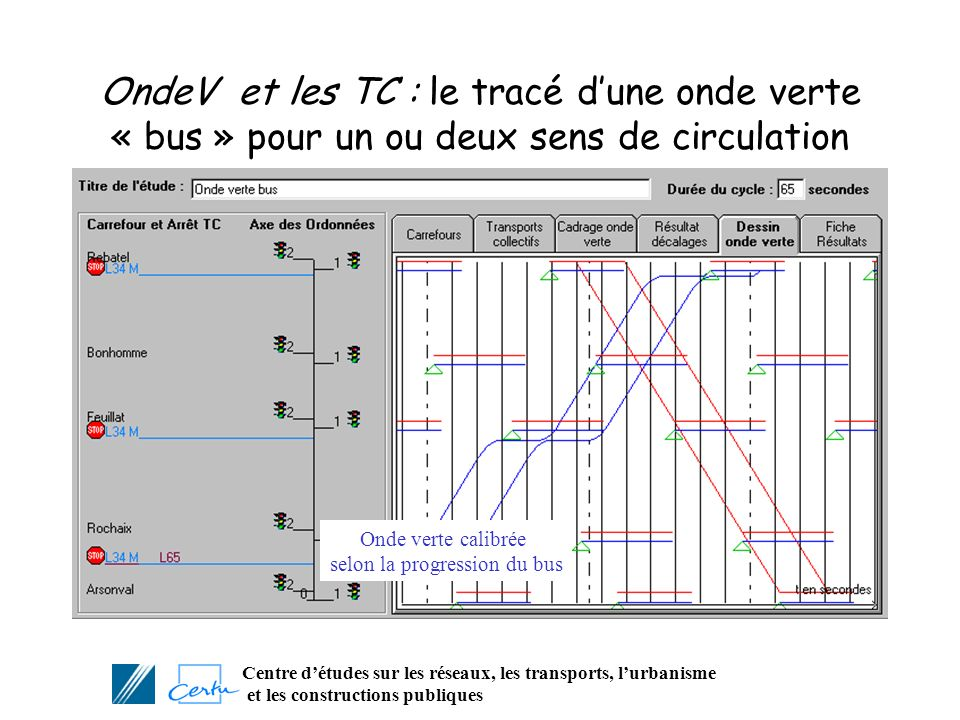 selon la progression du bus