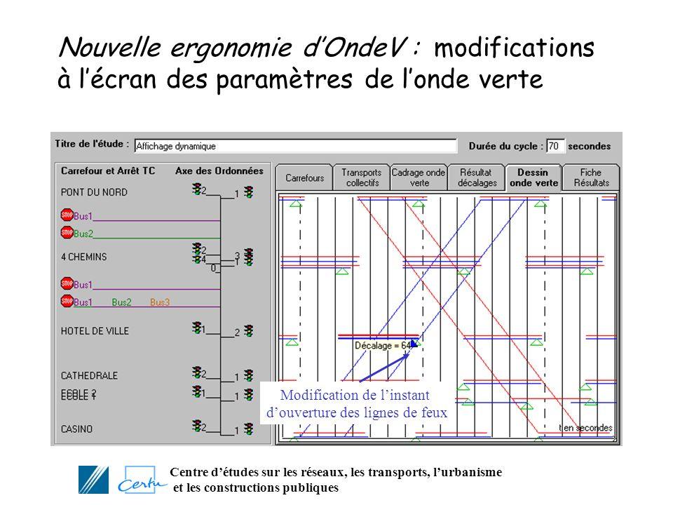 Nouvelle ergonomie d'OndeV : modifications à l'écran des paramètres de l'onde verte