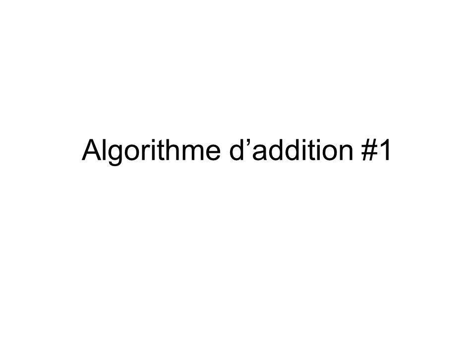 Algorithme d'addition #1