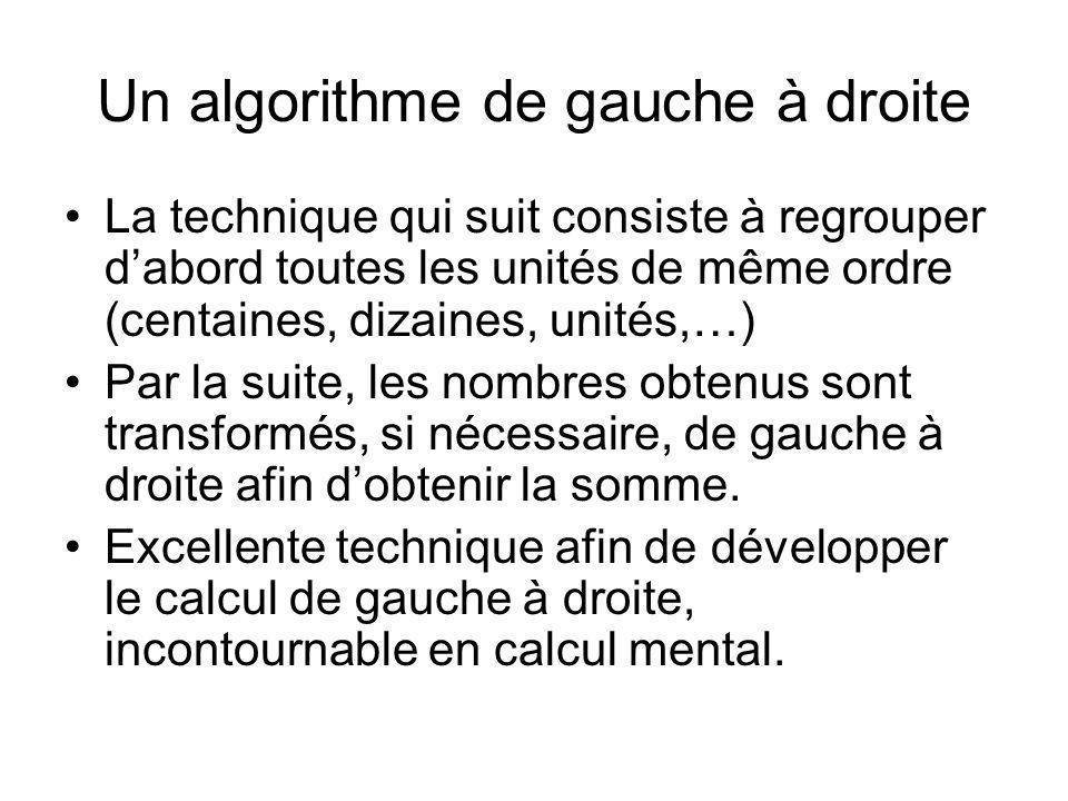 Un algorithme de gauche à droite
