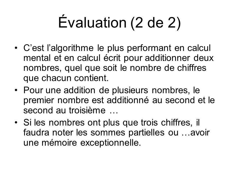 Évaluation (2 de 2)