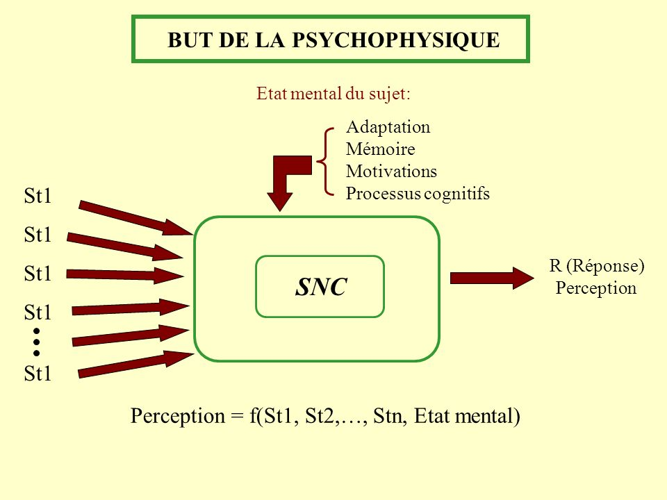 BUT DE LA PSYCHOPHYSIQUE