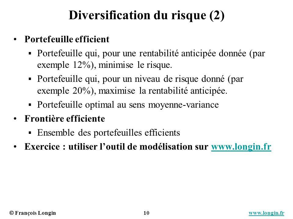 Diversification du risque (2)