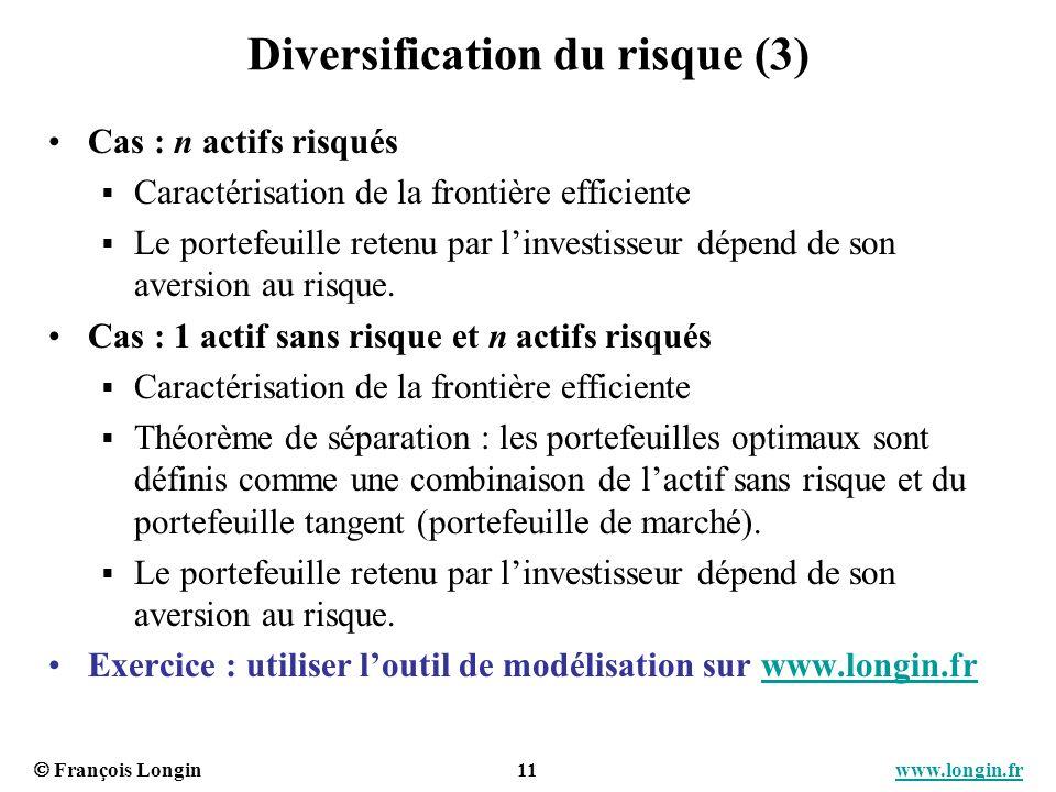 Diversification du risque (3)