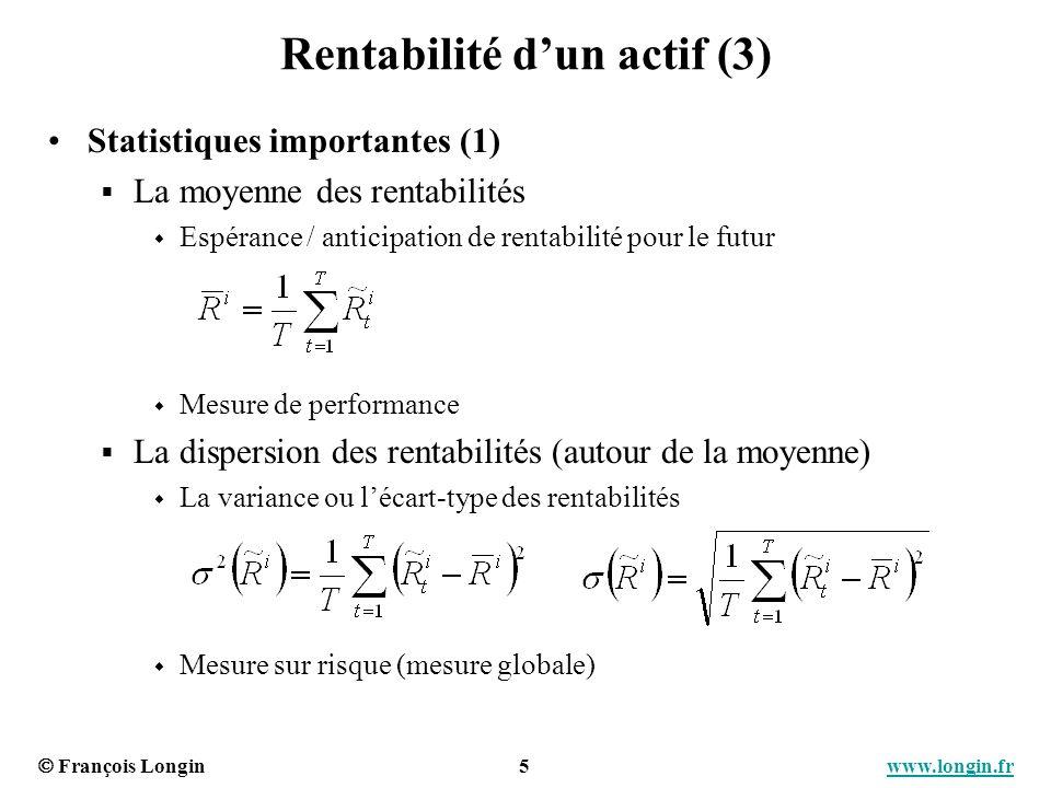 Rentabilité d'un actif (3)