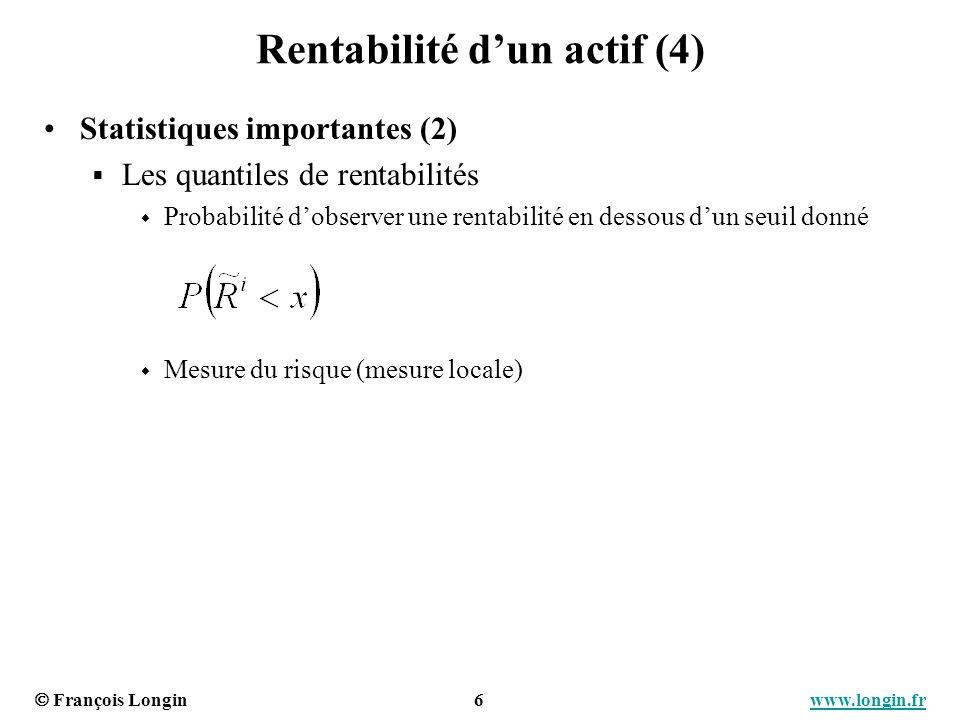 Rentabilité d'un actif (4)