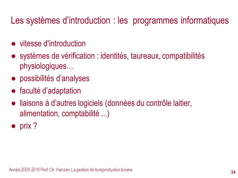 Les systèmes d'introduction : les programmes informatiques