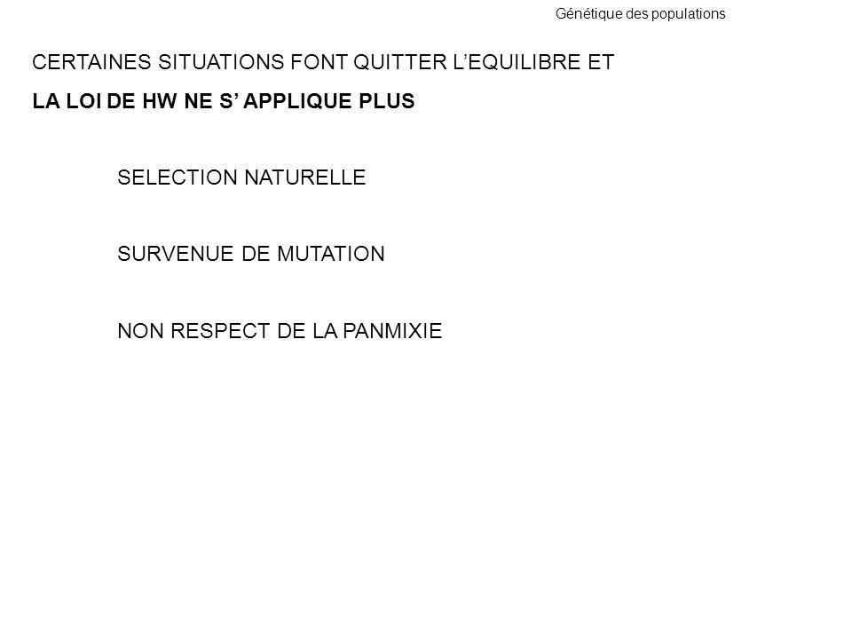 CERTAINES SITUATIONS FONT QUITTER L'EQUILIBRE ET