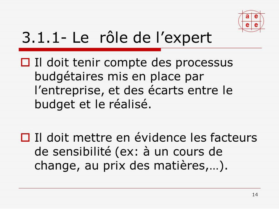 3.1.1- Le rôle de l'expert