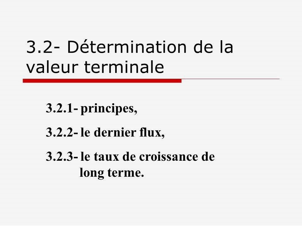 3.2- Détermination de la valeur terminale