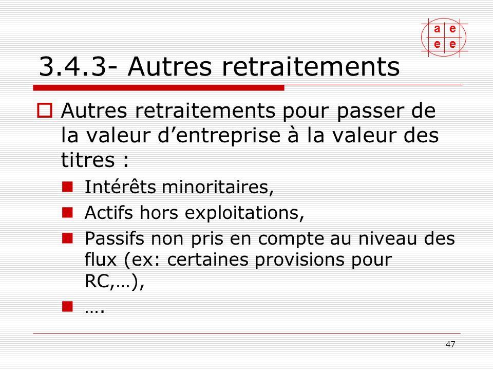3.4.3- Autres retraitements