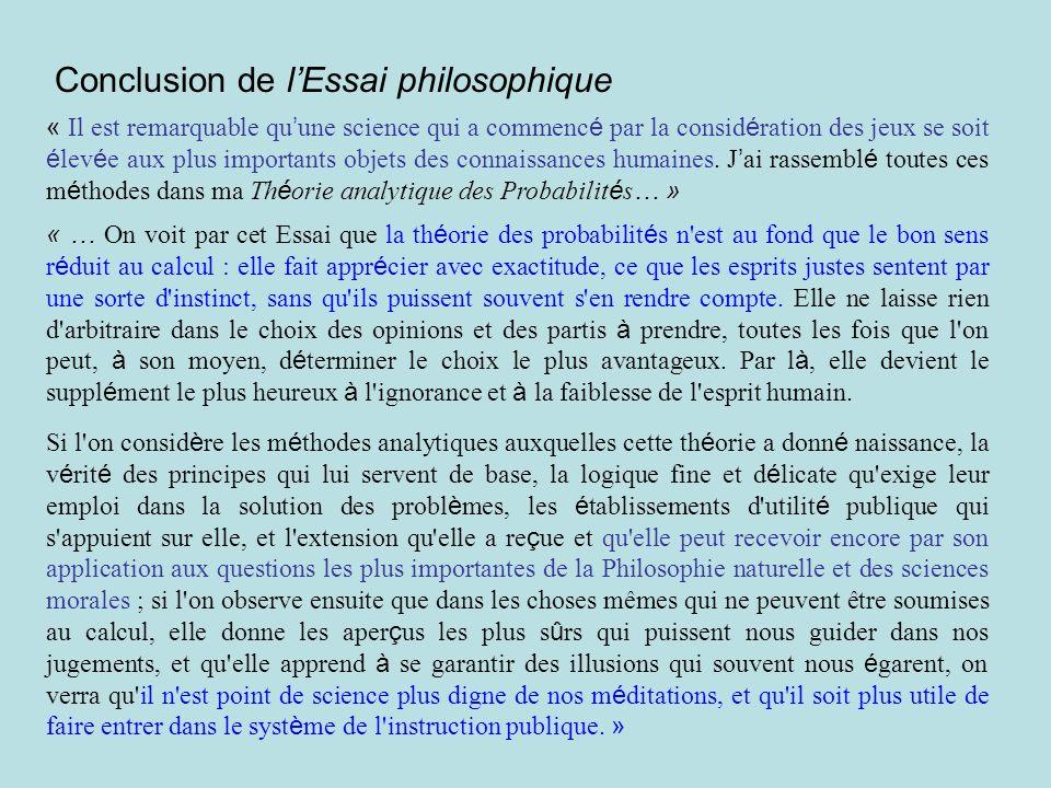 Conclusion de l'Essai philosophique