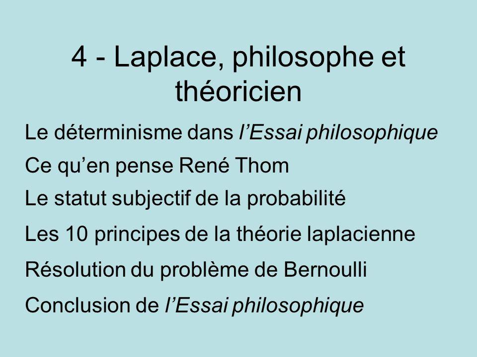4 - Laplace, philosophe et théoricien