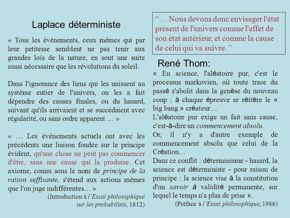 Laplace déterministe René Thom: