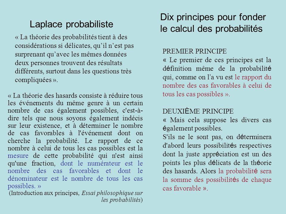 Dix principes pour fonder le calcul des probabilités