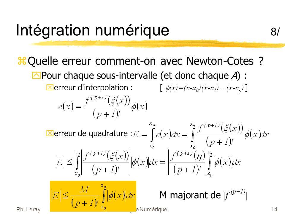 Intégration numérique 9/