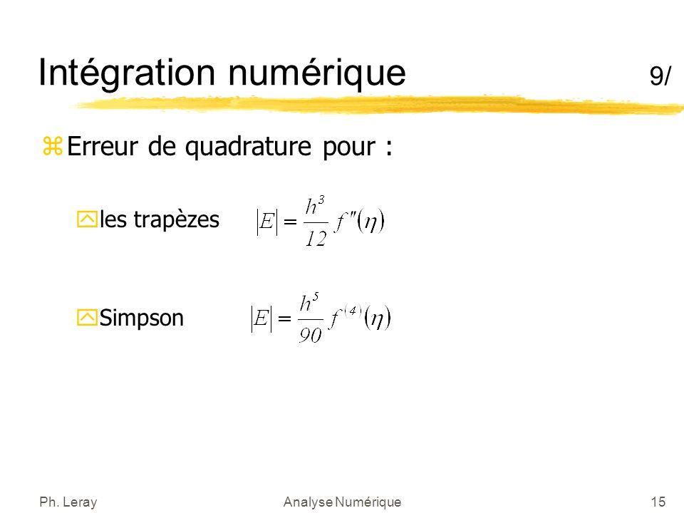 Intégration numérique 10/