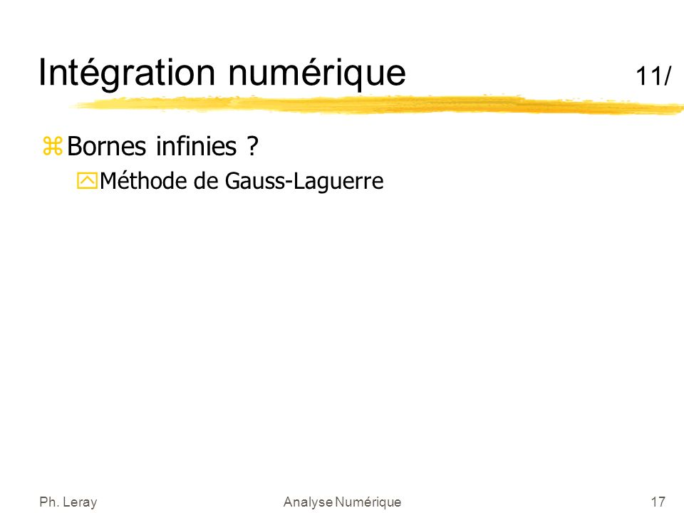 Intégration numérique 12/