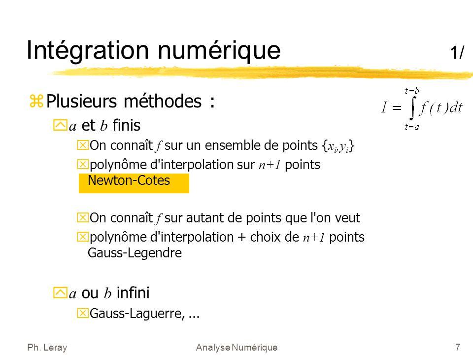 Intégration numérique 2/
