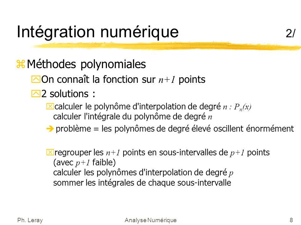 Intégration numérique 3/