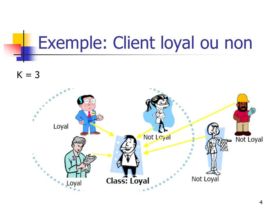 Exemple: Client loyal ou non