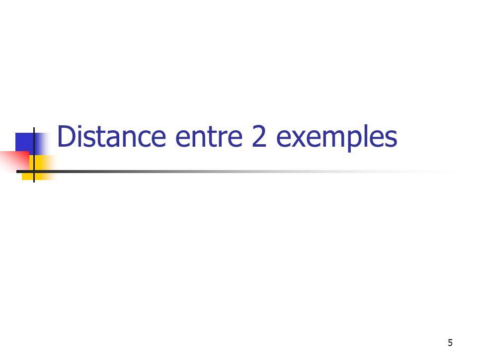 Distance entre 2 exemples