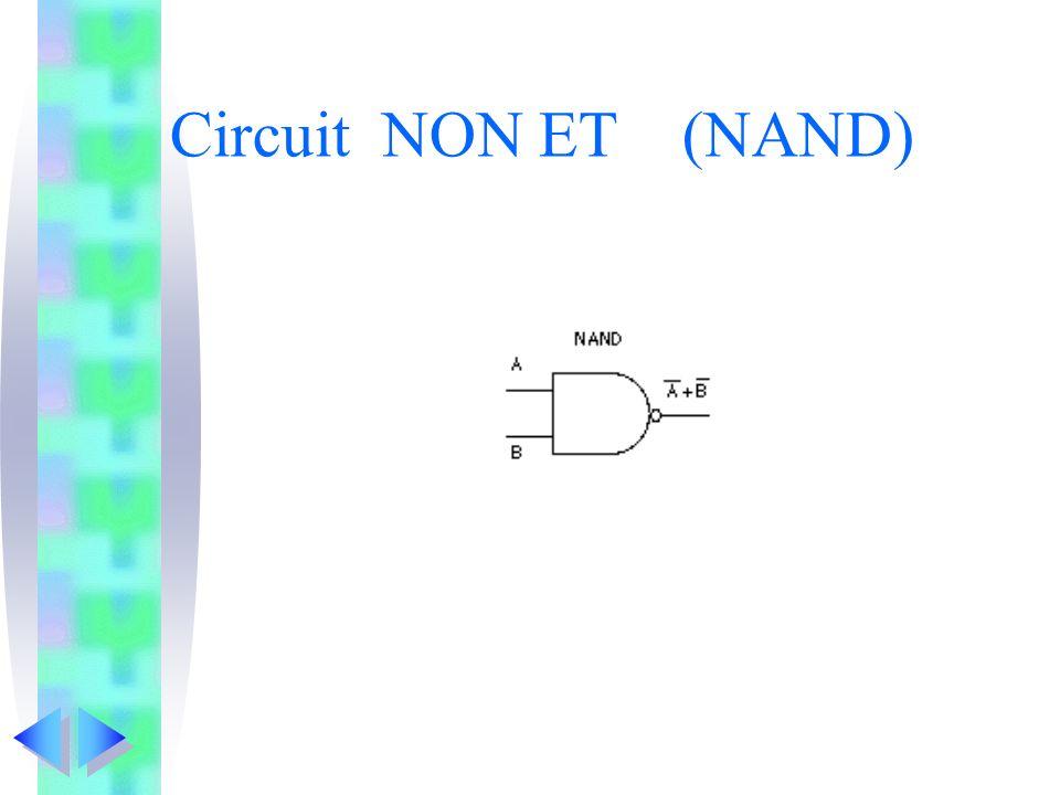 Circuit NON ET (NAND)
