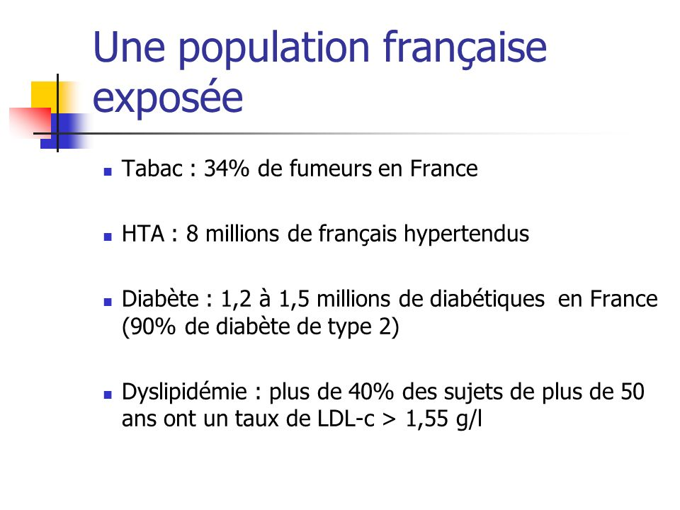 Une population française exposée