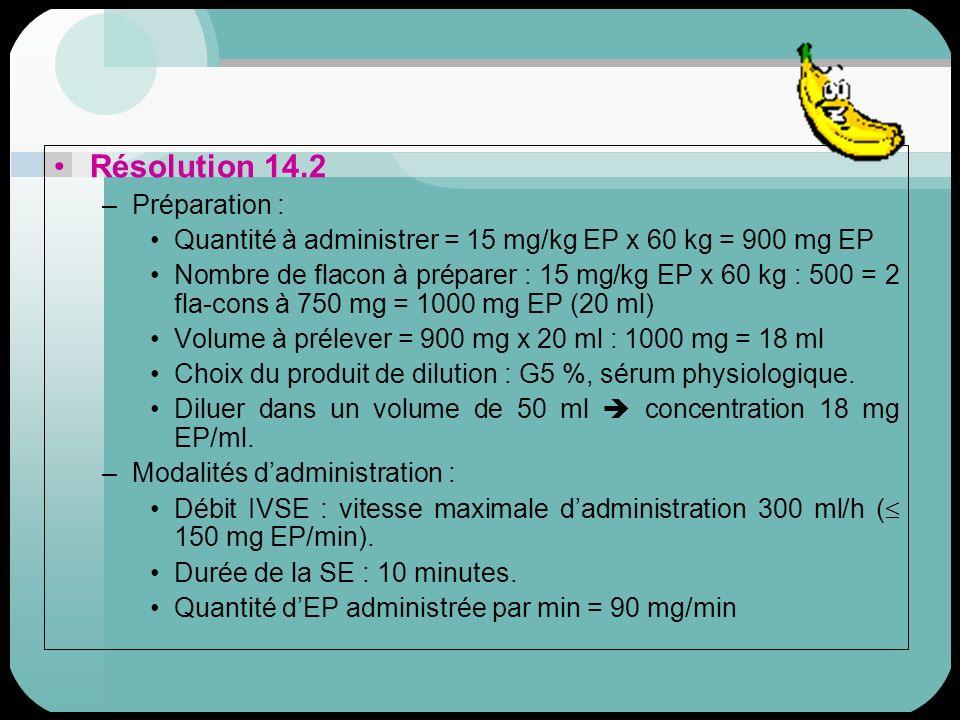 Résolution 14.2 Préparation :